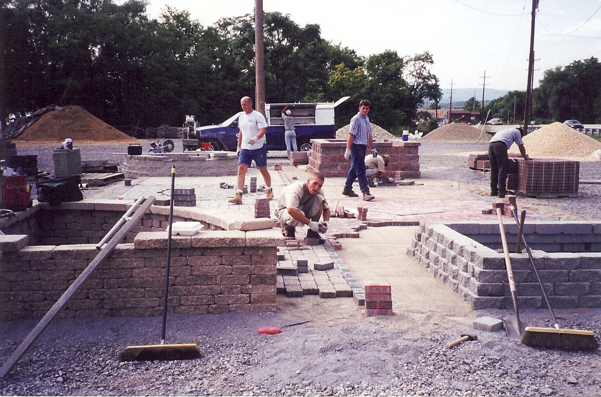 Years ago Tussey Mtn Mulch laying pavers