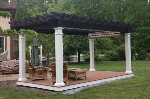 10x18 atrt w pergola - Pergola with furniture