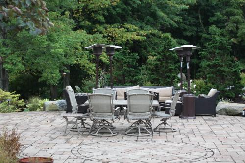 Paved patio