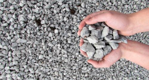Limestone 2B gravel for driveways and landscaping