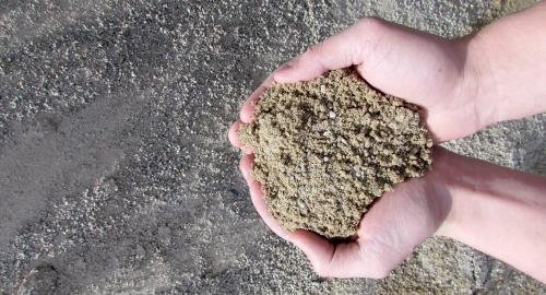 concrete sand for use in landscape projects