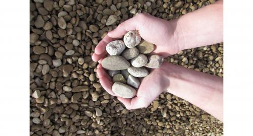 River rock round gravel