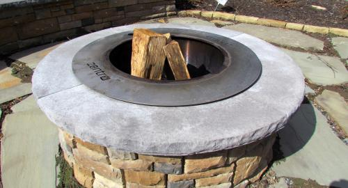 Cast Stone Fire Pit Tussey Mountain Mulch Altoona Pa